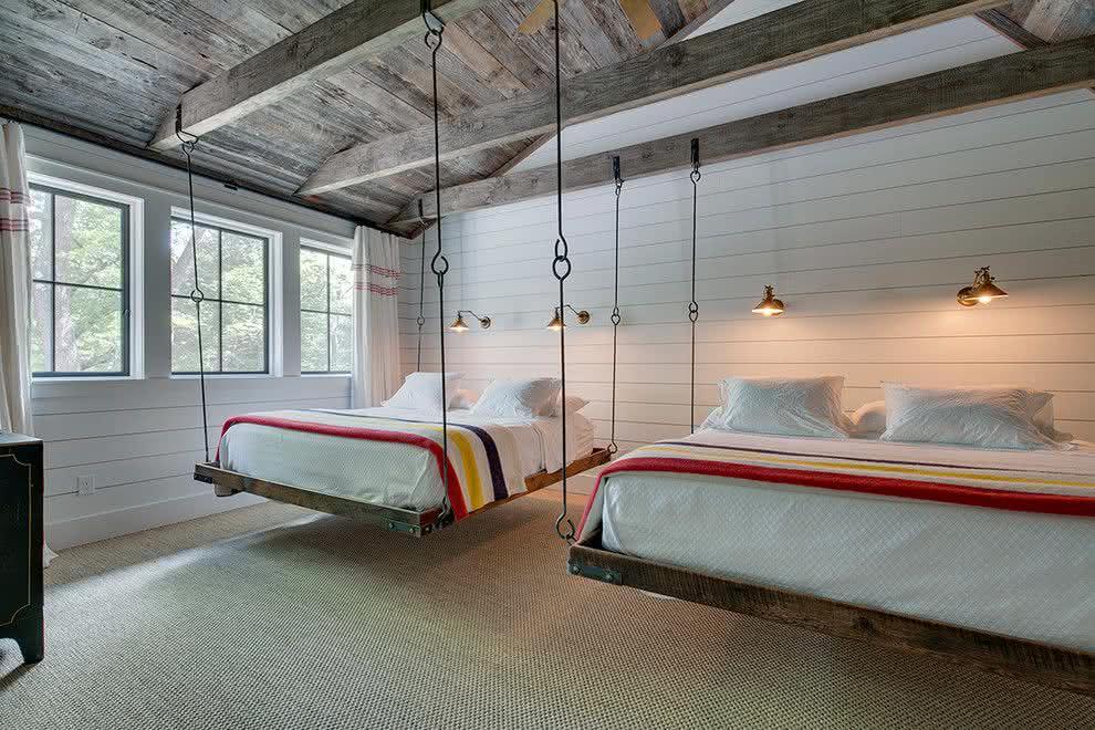 70 modelos de camas suspensas incr veis com fotos for Cama individual metalica