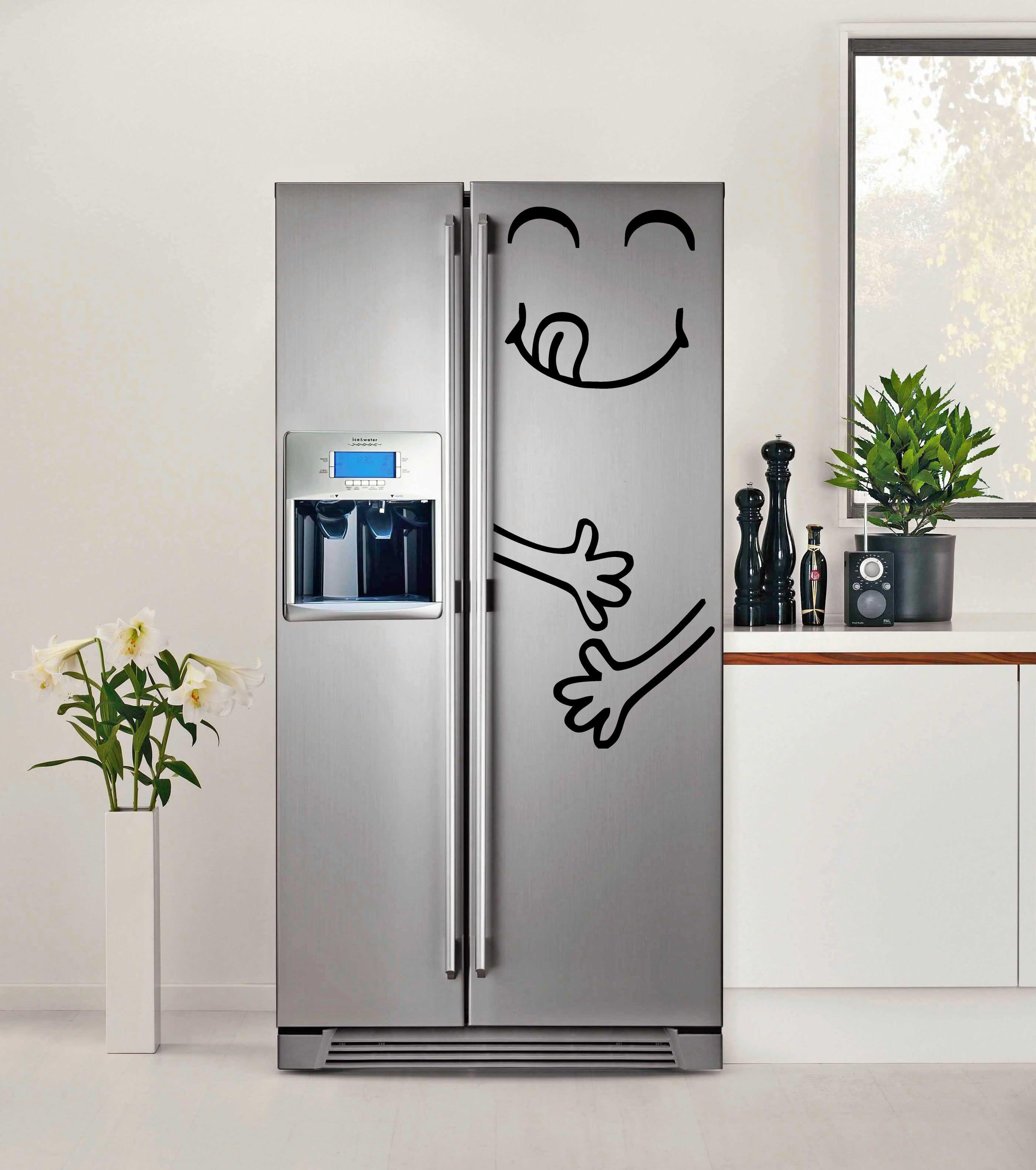 57 geladeiras adesivadas de forma criativa dicas e fotos - Frigo pequeno ...