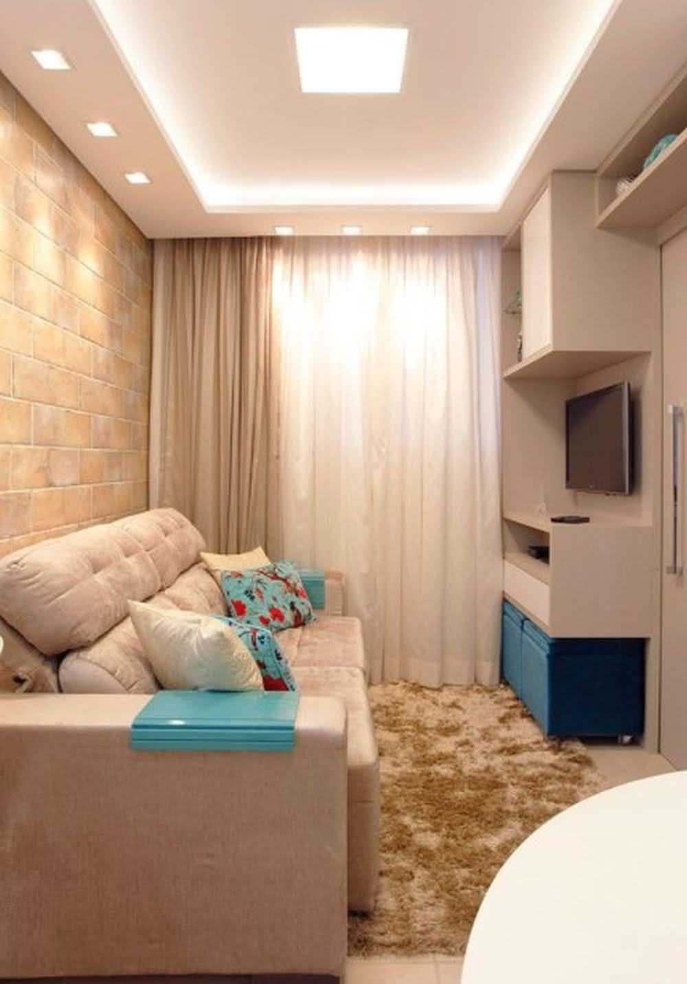 65 Salas De Tv Pequenas Decoradas Para Voc Se Inspirar