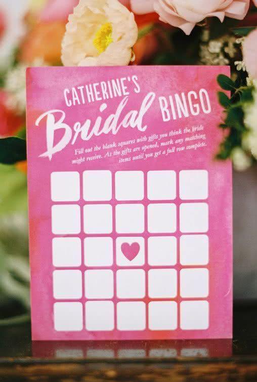 O bingo da noiva: preencha cada espaço com os presentes que imagine que vai ganhar