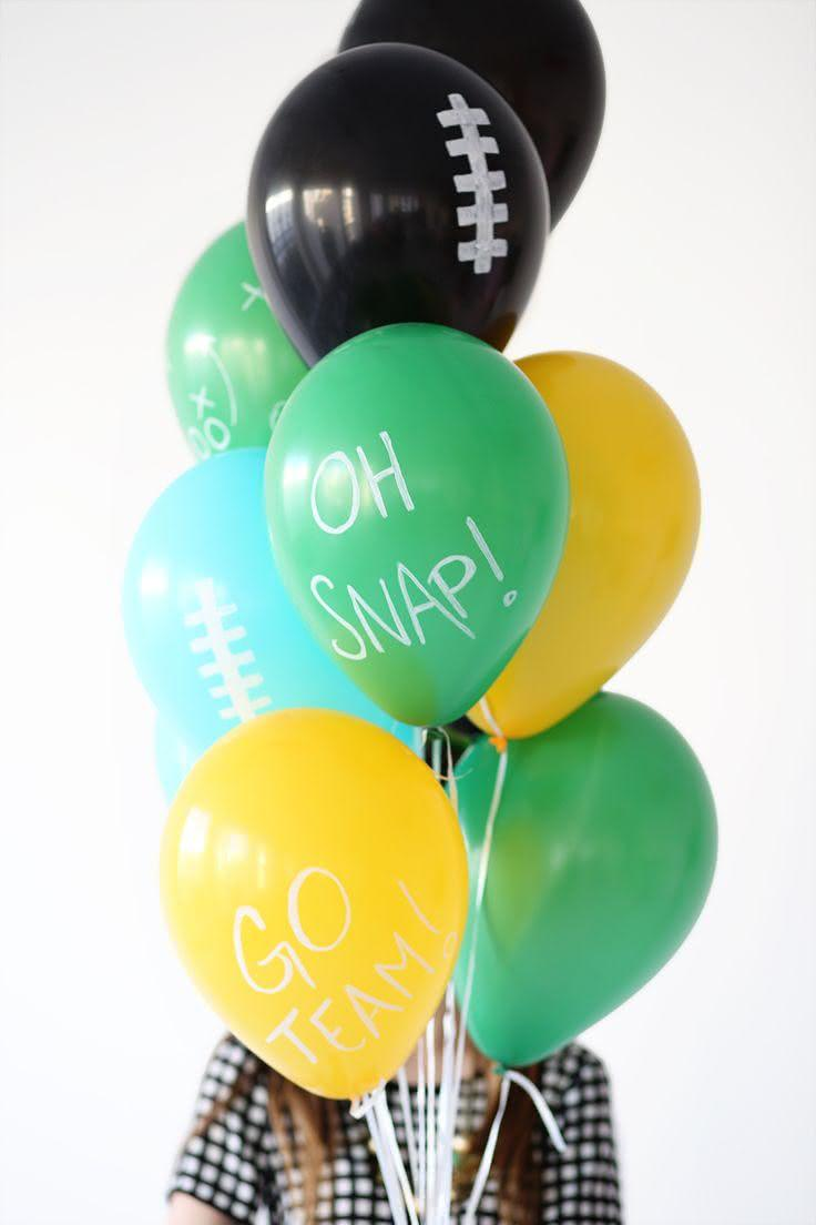 Decoração com balões com frases escritas
