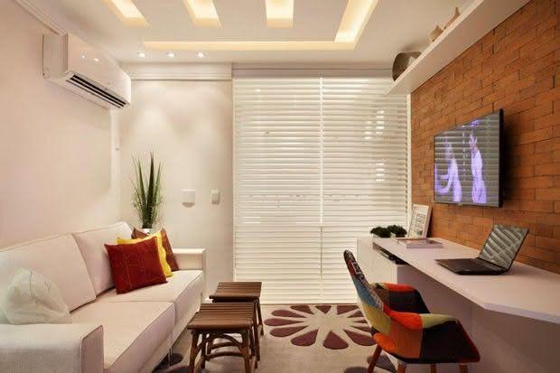Imagens Para Sala De Tv ~ 65 Salas de TV Pequenas Decoradas para você se Inspirar
