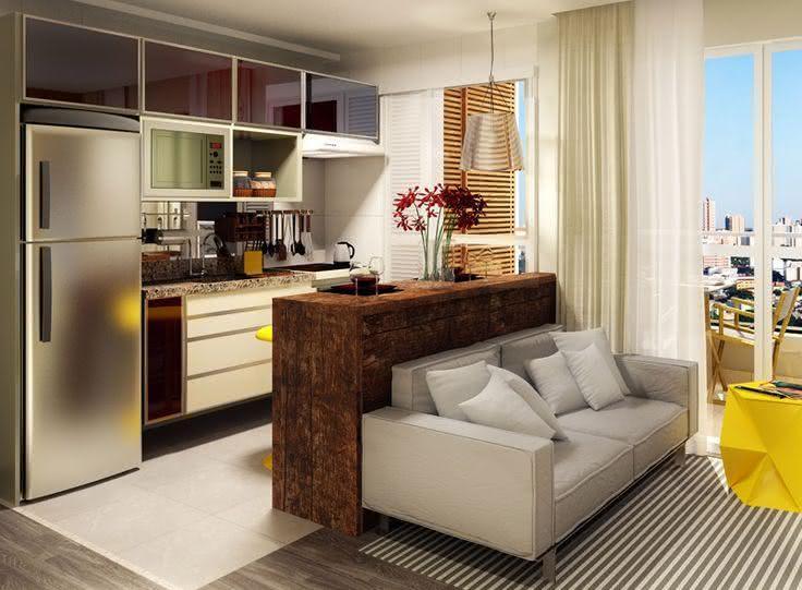 Salas de estar pequenas 77 projetos incr veis com fotos - Armarios para sala de estar ...