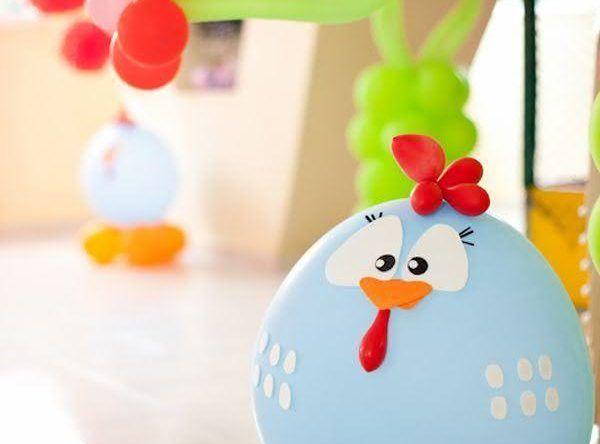 Decoração para festa da galinha pintadinha