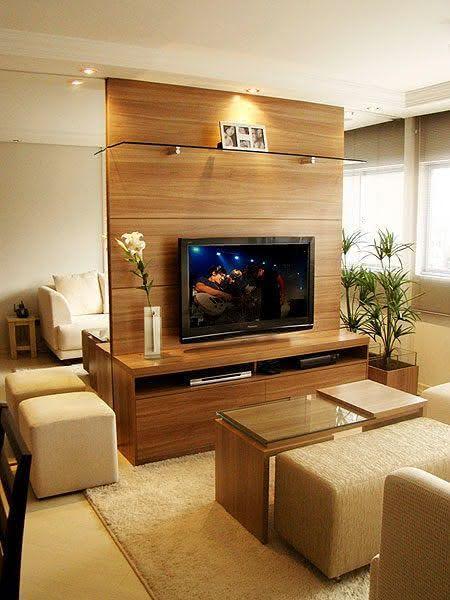 50 Salas de TV Pequenas Decoradas para você se Inspirar