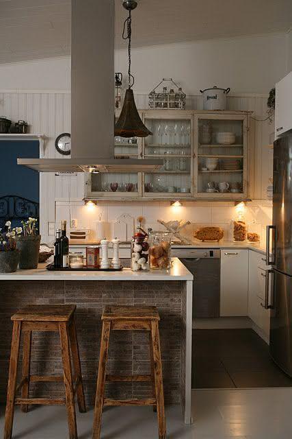 50 banquetas para cozinhas modelos e fotos - Banquetas para cocina ...