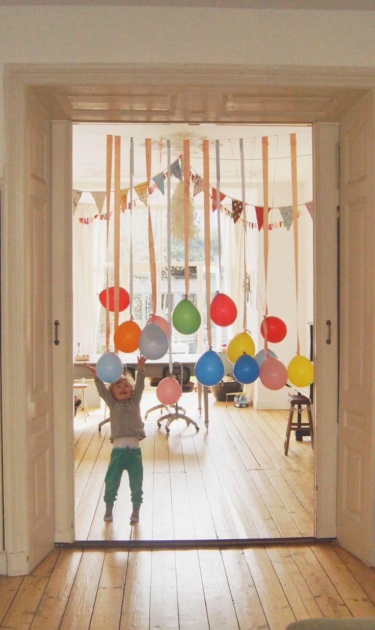Mistura de balões para festa junina