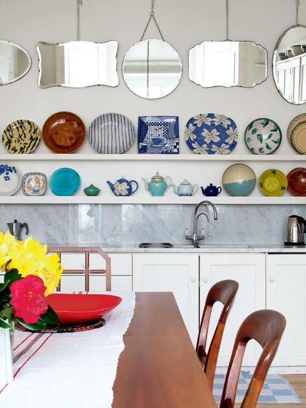50 enfeites para cozinhas ideias e fotos - Utensilios para pintar paredes ...