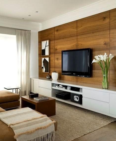 decoracao de interiores home theater:Imagem 27 – Textura para parede com revestimento em alto-relevo