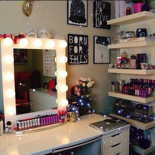 50 penteadeiras camarim lindas e inspiradoras fotos for Espejo para maquillarse