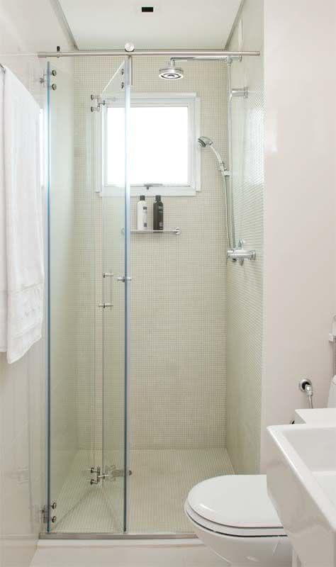 50 Modelos de Box para Banheiro para Você se Inspirar -> Box De Banheiro Com Pastilha De Vidro