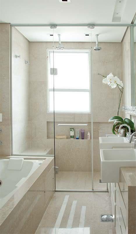 50 Modelos de Box para Banheiro para Você se Inspirar # Banheiro Pequeno Com Box De Tijolo De Vidro
