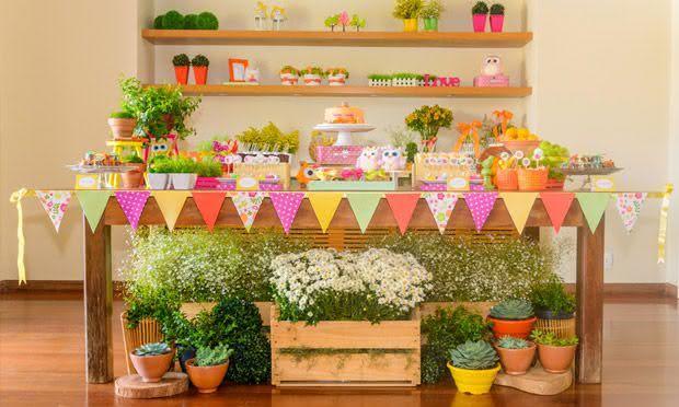 Flores do campo para decoração de festa junina
