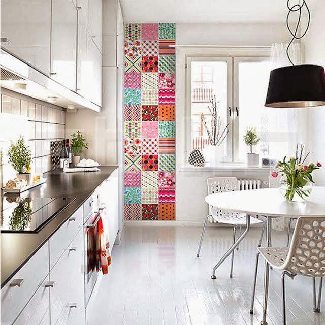 50 fotos de ladrilhos hidr ulicos em ambientes - Azulejos para cocinas baratos ...