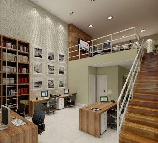 Sala De Tv No Mezanino ~ Imagem 40 – Mezanino para escritório com sala de reunião