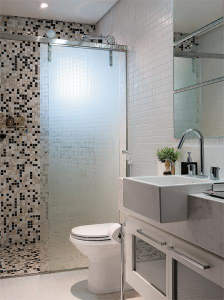 50 Modelos de Box para Banheiro para Você se Inspirar -> Banheiros Sociais Modernos