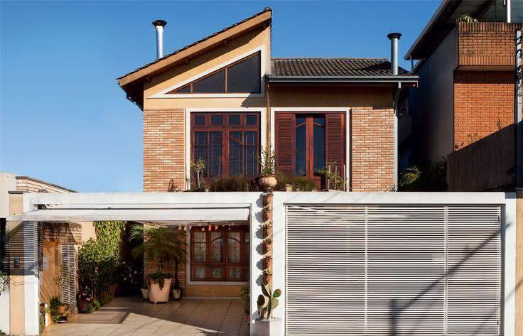 Portão residencial para duas garagens