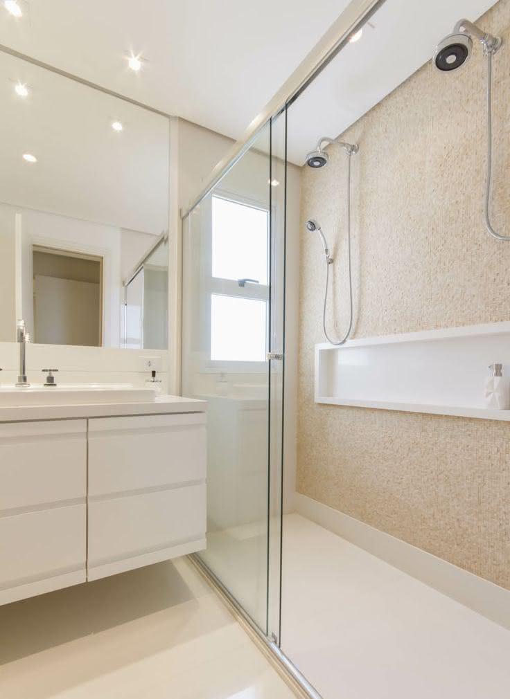 50 Modelos de Box para Banheiro para Você se Inspirar -> Armario Para Box De Banheiro