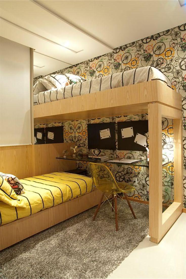 Quarto de adolescente com duas camas
