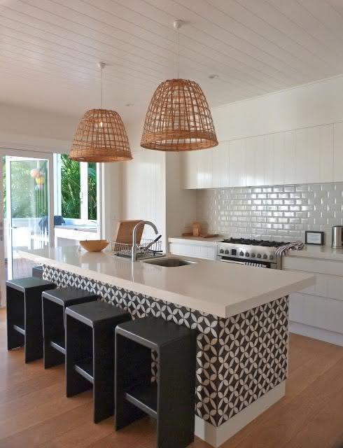 50 Cozinhas com Azulejos Inspiradores para seu Projeto # Azulejo Para Cozinha Simples