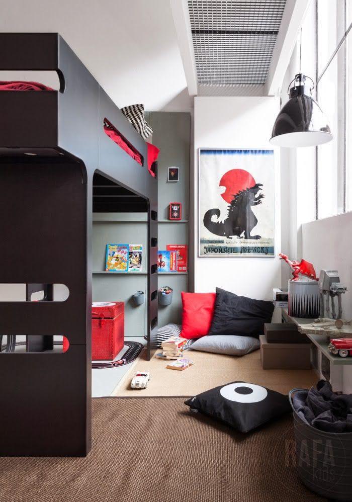 90 quartos de adolescentes com fotos inspiradoras for Vinilos habitacion juvenil chico