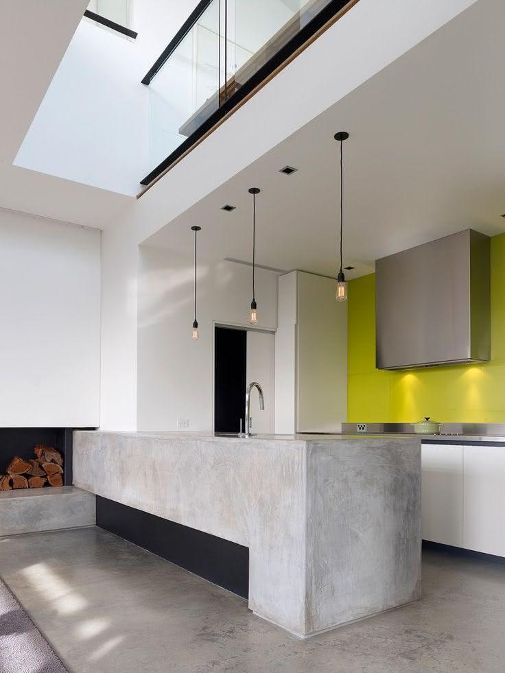 50 ambientes com piso de cimento queimado fotos - Cocina cemento pulido ...