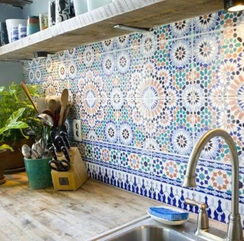 Keukentegels Portugees : 50 Cozinhas com Azulejos Inspiradores para seu Projeto