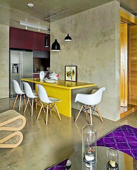 50 Ambientes com Piso de Cimento Queimado Fotos #C99602 1397x928 Banheiro Com Parede De Cimento Queimado
