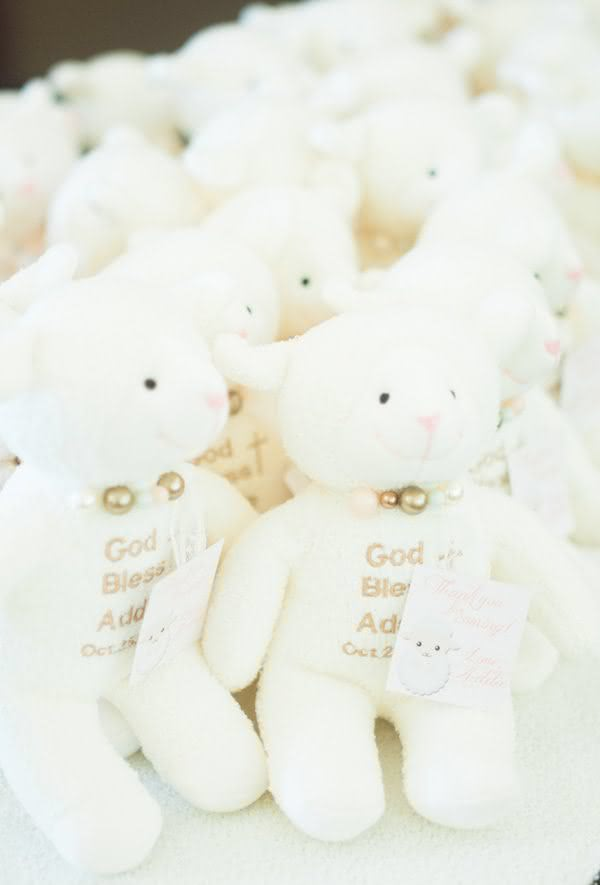 Que Deus te abençoe: pelúcias fofas com mensagens personalizadas.