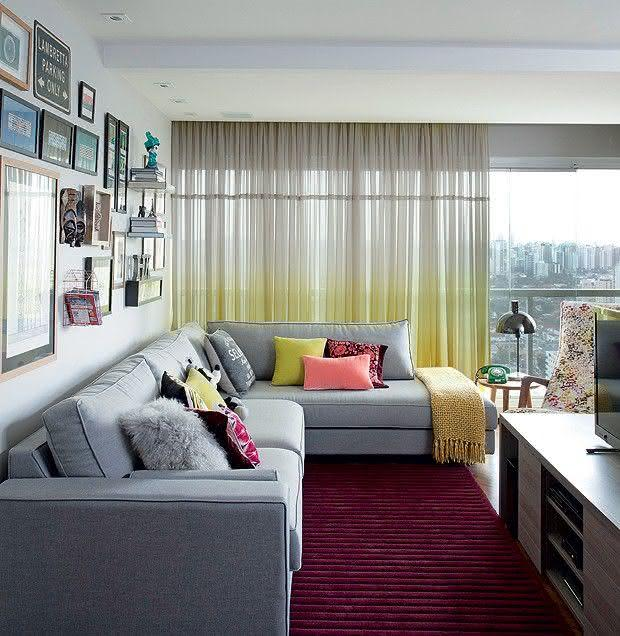 Sala De Estar Roxa E Cinza ~ Como Escolher o Tapete da Sala  50 Fotos e Exemplos