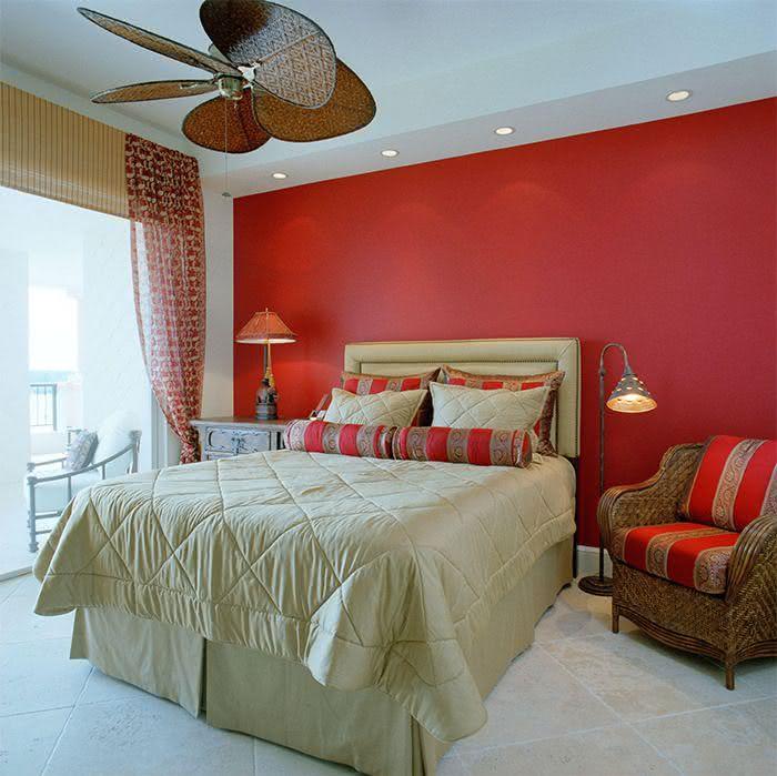 60 Quartos Vermelhos Decorados e Inspiradores ~ Quarto Romantico Vermelho