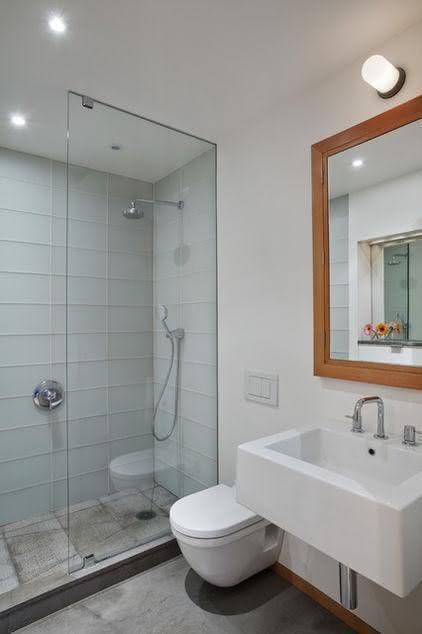 100 Banheiros Simples e Pequenos Inspiradores  Fotos -> Banheiros Simples Pintados