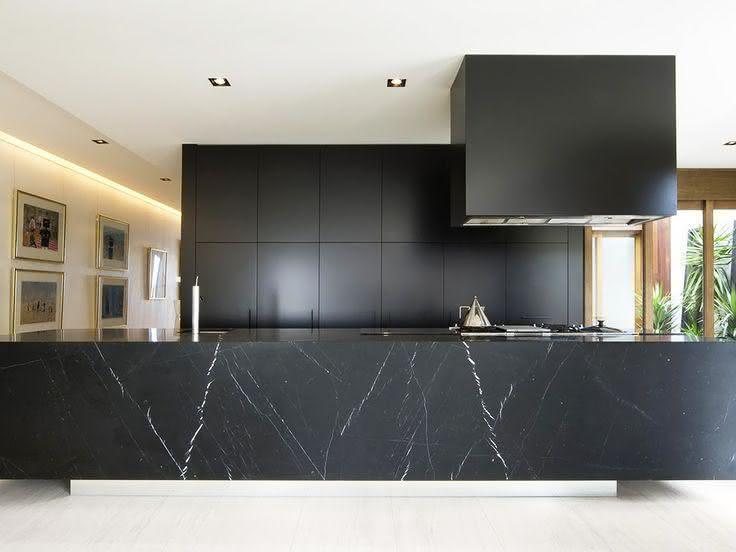 50 Bancadas de Cozinha em Granito Preto Absoluto # Bancada De Cozinha Preto Absoluto