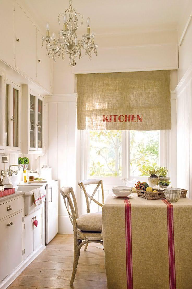 50 cortinas para cozinhas ideias e fotos inspiradoras - Cortinas de tela para cocina ...
