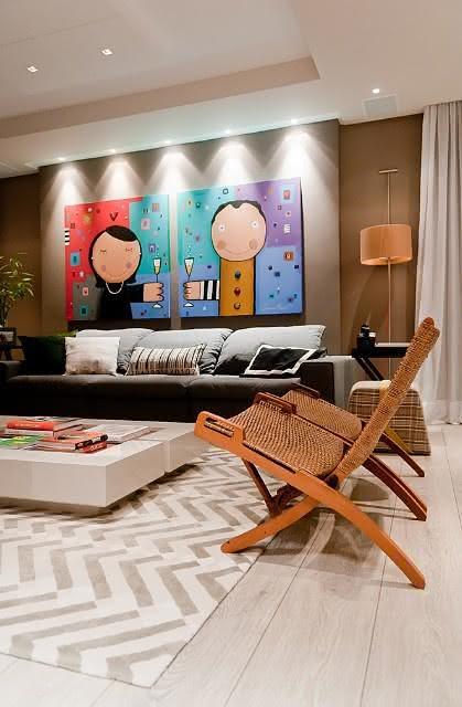 Quadros Bonitos Para Sala De Estar ~ imagem 13 quadro com imagem de casal na sala de estar