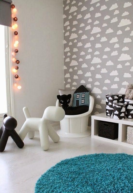 Proposta moderna de decoração para o quarto de bebê