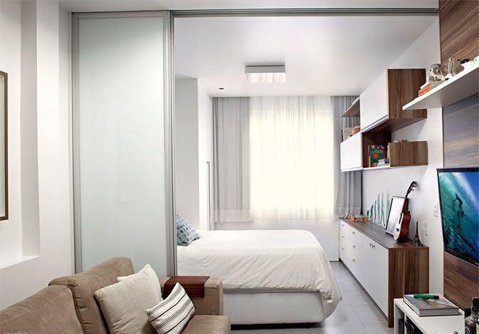 95 quartos de casal pequenos e simples decorados for Modelos de apartamentos pequenos