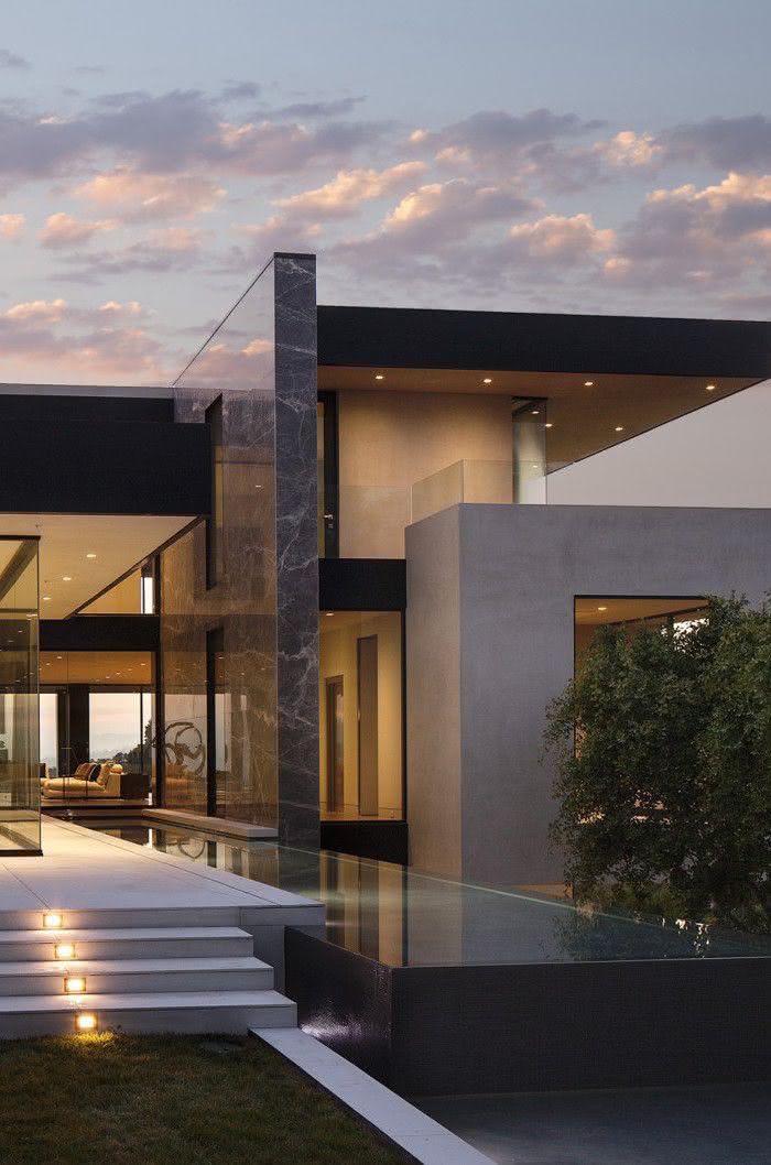50 casas contempor neas inspiradoras para o seu projeto for Fachadas contemporaneas