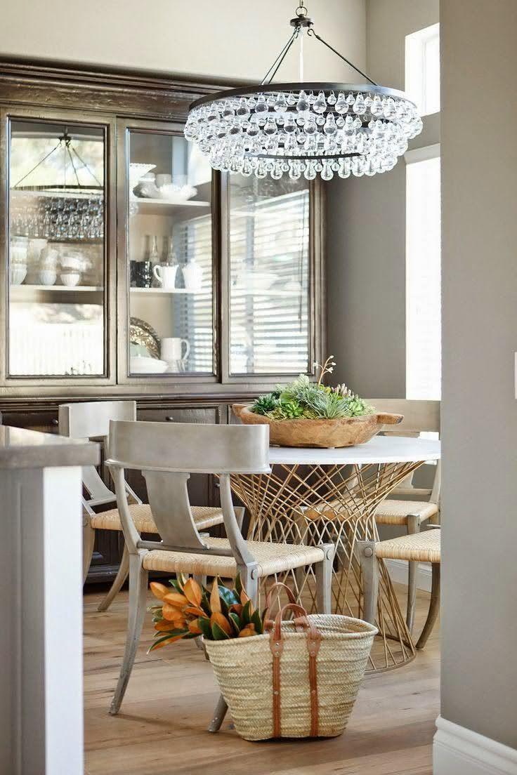 50 mesas redondas para sala de jantar inspiradoras - Mesas redondas modernas ...
