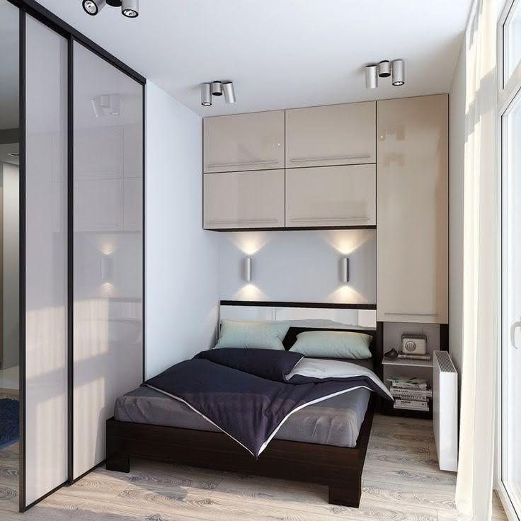 95+ Quartos de Casal Pequenos e Simples Decorados ~ Quarto Planejado Pequeno Casal Com Closet