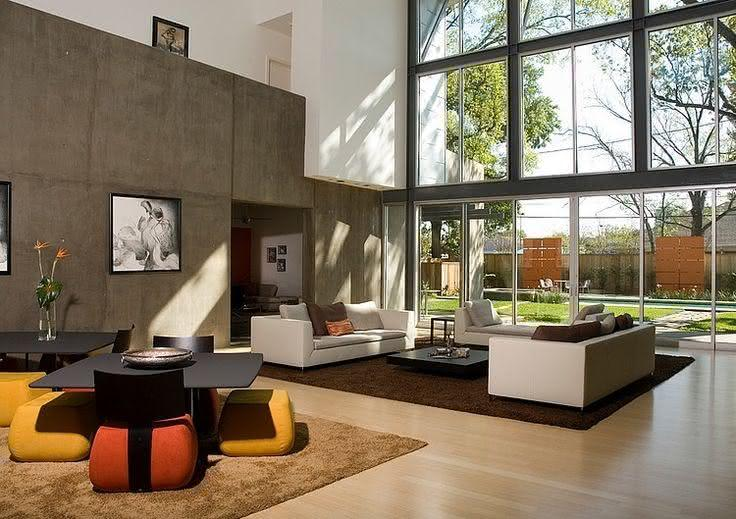 50 salas de estar modernas e inspiradoras fotos. Black Bedroom Furniture Sets. Home Design Ideas
