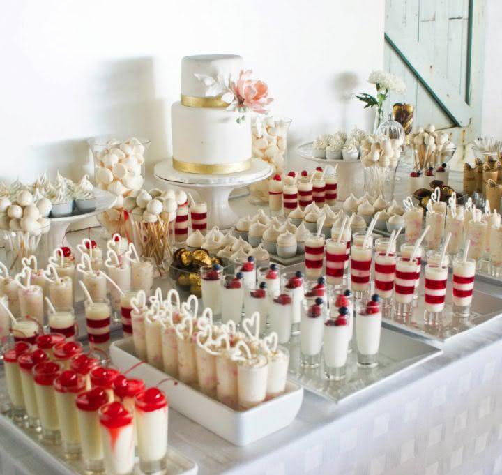 50 mesas de bolo de casamento inspiradoras fotos for La table a dessert