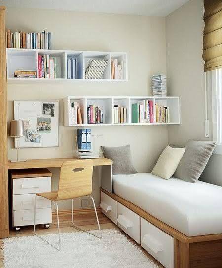 50 Escrivaninhas para Quartos de Casal e de Solteiro ~ Quarto Solteiro Escrivaninha