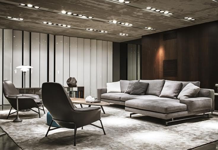 50 salas de estar modernas e inspiradoras fotos for Salas en l modernas