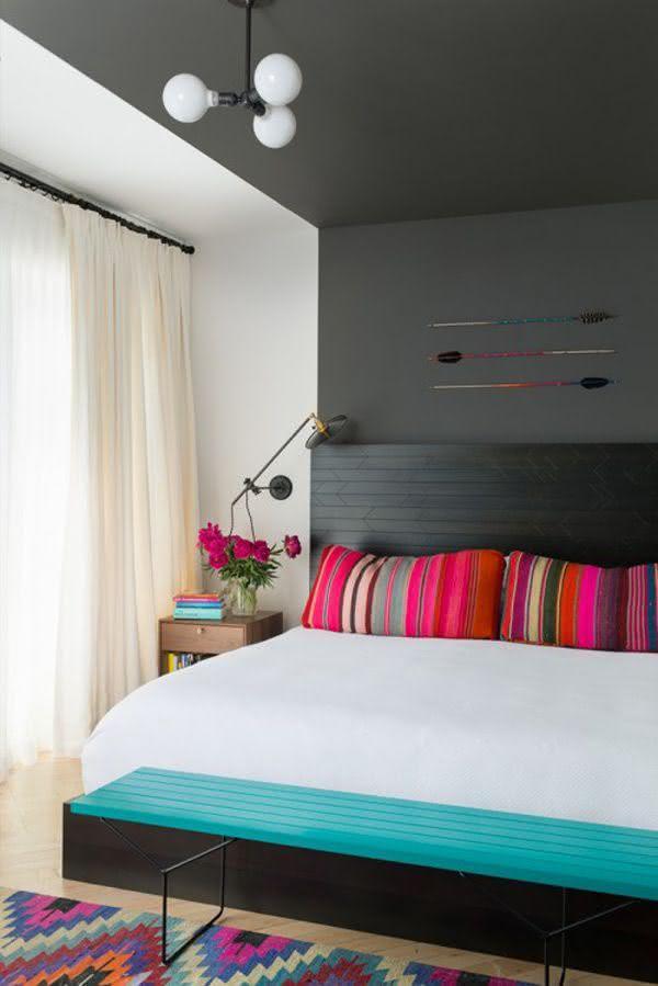 Cores para Quartos de Casais Veja 125 Fotos com Exemplos ~ Quarto Rosa Forte
