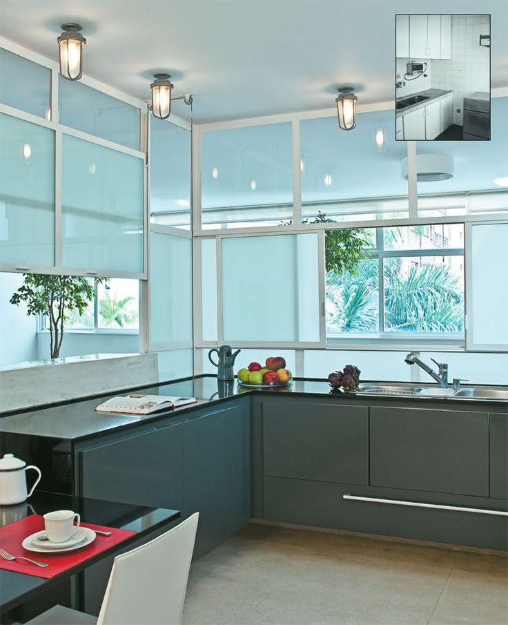 50 Bancadas de Cozinha em Granito Preto Absoluto # Bancada Para Cozinha De Alvenaria