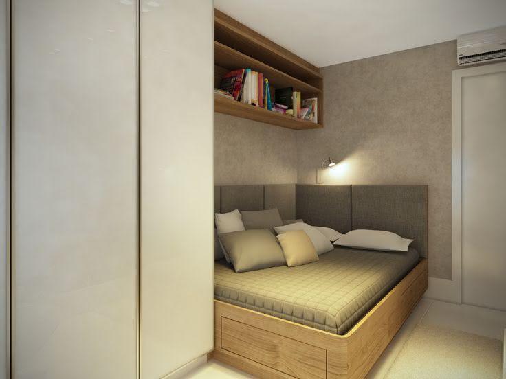 Proposta de quarto com gavetas abaixo da cama