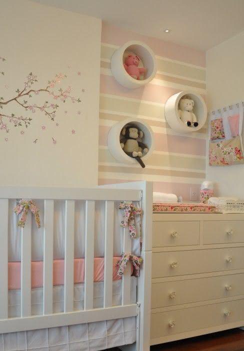 50 Quartos de Bebês com Papéis de Paredes Lindos