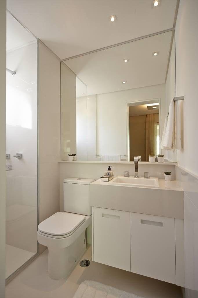 100 Banheiros Simples e Pequenos Inspiradores  Fotos -> Banheiros Modernos Pequenos E Baratos