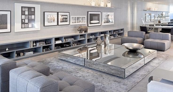 50 mesas de centro espelhadas lindas e inspiradoras for Sala de estar funcional